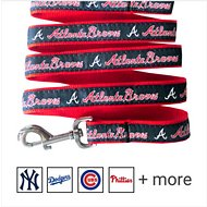 Pets First MLB Dog Leash, Atlanta Braves, Small
