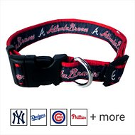 Pets First MLB Dog Collar, Atlanta Braves, X-Large