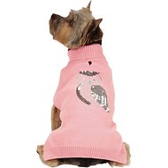 Zack & Zoey Elements Shimmer Owl Dog Sweater, XX-Small, Pink