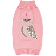 Zack & Zoey Elements Shimmer Owl Dog Sweater, X-Small, Pink