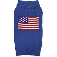 Zack & Zoey Elements American Flag Dog Sweater, Medium
