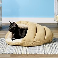 Ethical Pet Sleep Zone Cuddle Cave Cat & Dog Bed, 22-inches, Tan