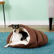 Ethical Pet Sleep Zone Cuddle Cave Cat & Dog Bed, 22-in, Chocolate