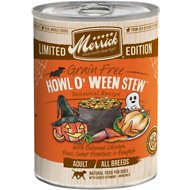 Merrick Seasonals Howl O' Ween Stew Grain-Free Canned Dog Food, 12.7-oz, case of 12
