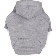 Zack & Zoey Fleece-Lined Dog & Cat Hoodie, Gray, Small