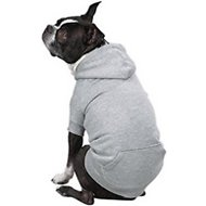 Zack & Zoey Fleece-Lined Dog & Cat Hoodie, Gray, Medium