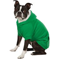 Zack & Zoey Fleece-Lined Dog & Cat Hoodie, Large, Green