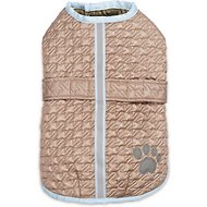 Zack & Zoey Quilted Thermal Nor'Easter Dog Coat, Almond, Medium