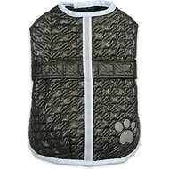 Zack & Zoey Quilted Thermal Nor'Easter Dog Coat, Large, Green