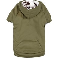Zack & Zoey Forest Friends Reversible Dog Hoodie, Small, Green