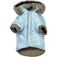 Zack & Zoey Polar Explorer Quilted Thermal Dog Parka, Blue, Small