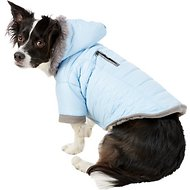 Zack & Zoey Polar Explorer Quilted Thermal Dog Parka, Medium, Blue