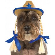 Rubie's Costume Company Cowgirl Hat With Braids Dog Costume, Medium/Large