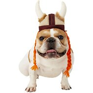 Rubie's Costume Company Viking Hat With Braids Dog & Cat Costume, Small/Medium