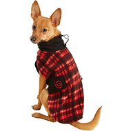 Ultra Paws Red Plaid Cozy Dog Coat, Petite