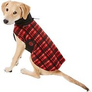Ultra Paws Red Plaid Cozy Dog Coat, X-Small