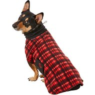 Ultra Paws Red Plaid Cozy Dog Coat, Small