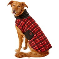 Ultra Paws Red Plaid Cozy Dog Coat, Medium