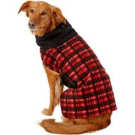 Ultra Paws Red Plaid Cozy Dog Coat, Large