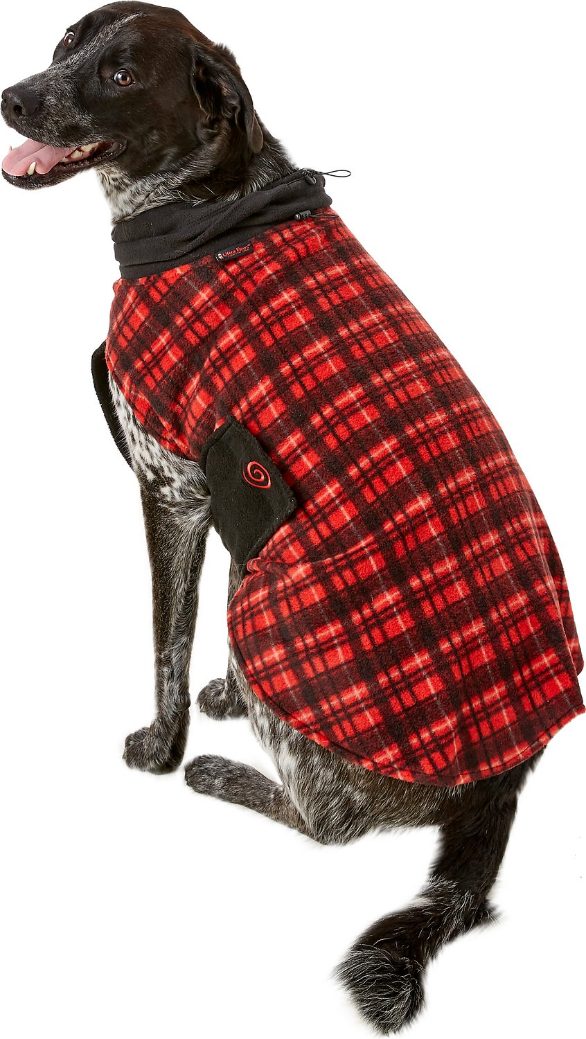 33 Ultra Cozy Bedroom Decorating Ideas For Winter Warmth: Ultra Paws Red Plaid Cozy Dog Coat, X-Large