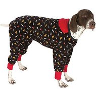 Ultra Paws SnoJam Toofers Pattern Dog Coat, Black, XX-Petite