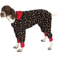 Ultra Paws SnoJam Toofers Pattern Dog Coat, Black, Large
