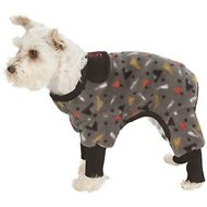 Ultra Paws SnoJam Toofers Pattern Dog Coat, Grey, Large