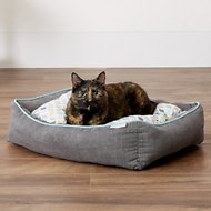 Frisco Ortho Sherpa Cuddler & Cushion, Dog & Cat Bed, Sky Tone Geo Print, Small/Medium