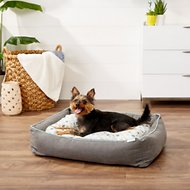 Frisco Ortho Sherpa Cuddler & Cushion, Dog & Cat Bed, Sky Tone Geo Print, Large