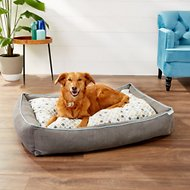 Frisco Ortho Sherpa Cuddler & Cushion, Dog Bed, Sky Tone Geo Print, X-Large