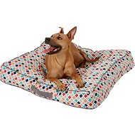 Frisco Tufted Lounger Square Dog Bed, Earthy Tone Geo Print, Large/X-Large