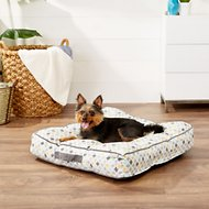 Frisco Tufted Lounger Square Dog Bed, Sky Tone Geo Print, Medium/Large