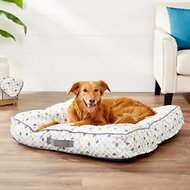 Frisco Tufted Lounger Square Dog Bed, Sky Tone Geo Print, Large/X-Large