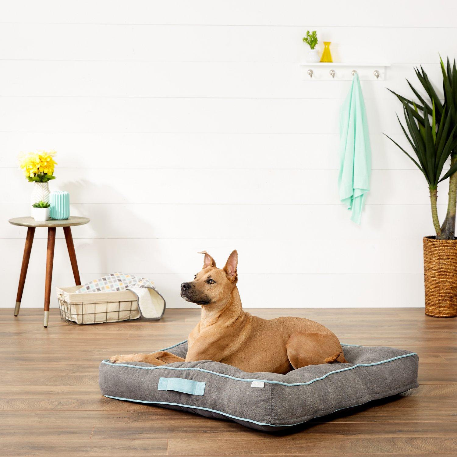 medium fleece product berylcrop bed wolfybeds slate home luxury grey dog large beds and round