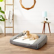 Frisco Ortho Textured Plush Bolster Sofa Dog Bed , Large