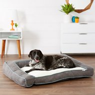 Frisco Ortho Textured Plush Bolster Sofa Dog Bed, Gray, XX-Large