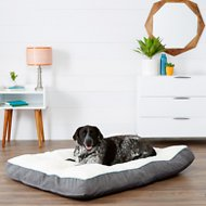 Frisco Textured Plush Lounger Rectangular Dog Bed , Gray, XX-Large