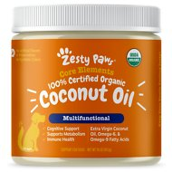 Zesty Paws Organic Extra Virgin Coconut Oil for Dogs, 16-oz jar