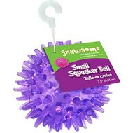Gnawsome Squeaker Ball Dog Toy, Color Varies, Small