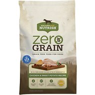 Rachael Ray Nutrish Zero Grain Natural Chicken & Sweet Potato Recipe Grain-Free Dry Dog Food, 28-lb