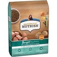 Rachael Ray Nutrish Bright Puppy Natural Real Chicken & Brown Rice Recipe Dry Dog Food, 6-lb bag