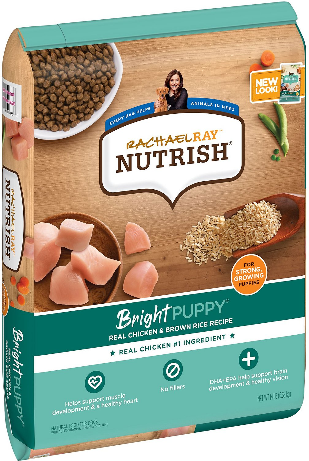 rachael ray nutrish bright natural real chicken brown rice puppy