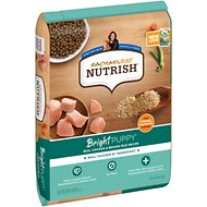 Rachael Ray Nutrish Bright  Natural Real Chicken & Brown Rice Puppy Recipe Dry Dog Food, 14-lb bag