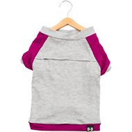 penn + pooch The Classic Babe Dog T-Shirt, Deep Purple, Small