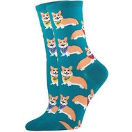 Socksmith Women's Corgi Crew Socks, Emerald