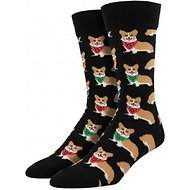 Socksmith Men's Corgi Crew Socks, Black