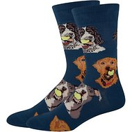 Socksmith Men's Ball Dog Crew Socks, Antique Blue