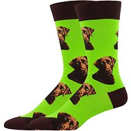 Socksmith Men's Lab-or Of Love Crew Socks, Lime