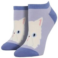 Socksmith Women's Purrfectly Persian Ped Socks, Light Lavender