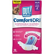 OUT! Disposable Female Dog Diapers, Extra Small/Small, 16 count